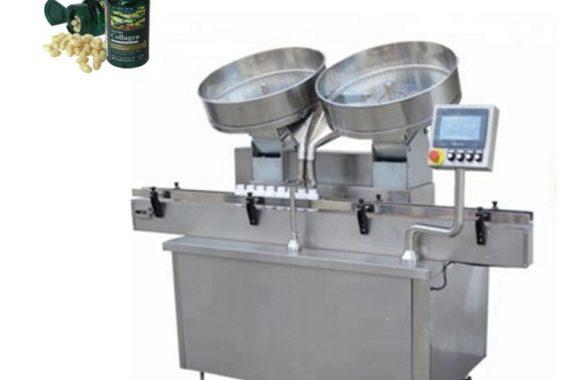 Comprimidos de aço inoxidável automáticos da cápsula do comprimido que contam a máquina de enchimento
